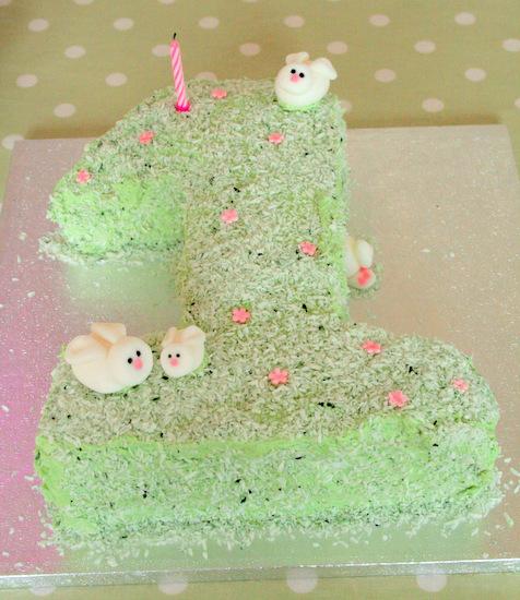 1st Rabbit Birthday Cake