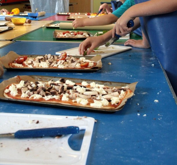 knife skills with pizza making