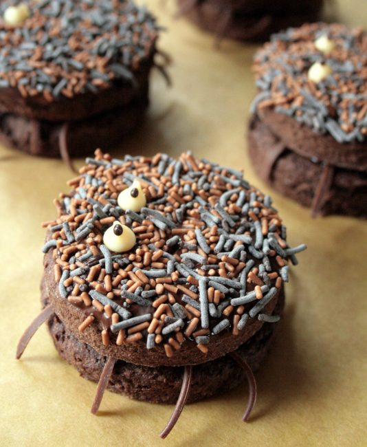 Nutella and Chocolate spider cookies