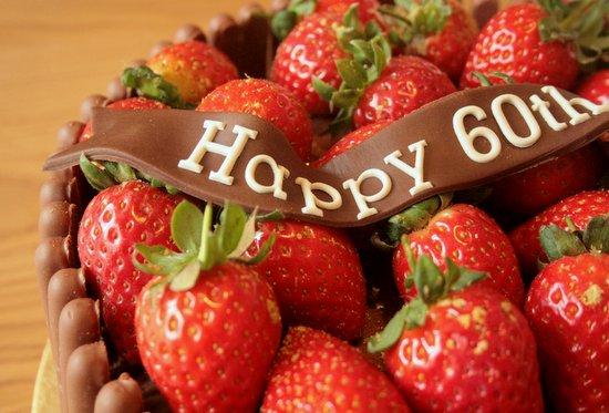 60th chocolate birthday cake