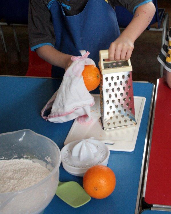 grating orange safely