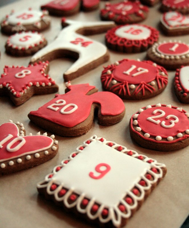 iced gingerbread advent designs